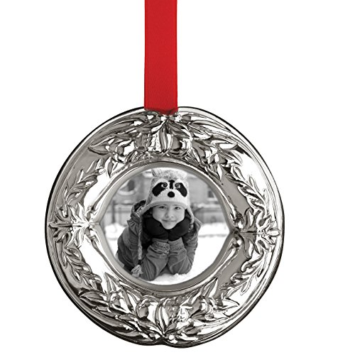 Reed & Barton Francis 1st Wreath Picture Frame Ornament ()