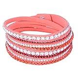 Eyourlife Fashion Leather Wrap Wristband Rhinestone Multilayer Bracelet - Best Reviews Guide
