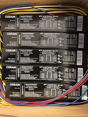 Osram Sylvania QTP4X32T8/UNV ISN-SC 49947 120-277V Non-Dimmable 4 Lamp Instant Start Electronic Ballast - 10 Pieces