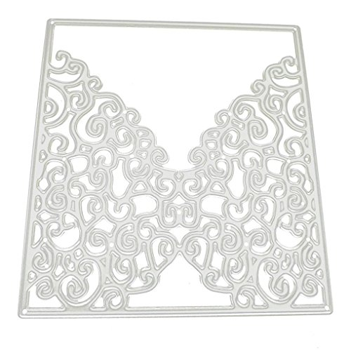 Vanvler Metal Cutting Dies Stencils for DIY Scrapbooking Album Gift Card Stamps (E invitation card)