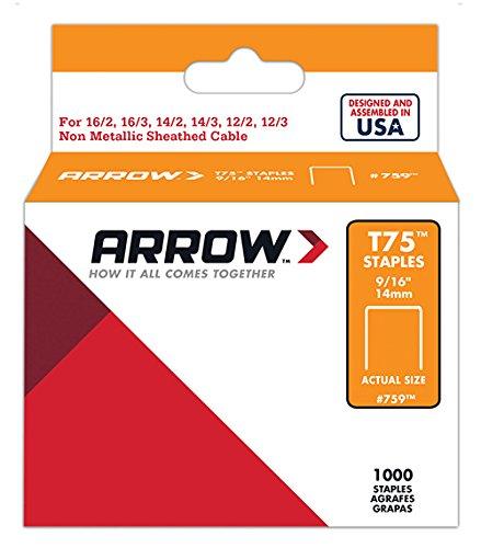 Arrow 031020 759 Boî te de 1000 Agrafes 14 mm pour Agrafeuse T75