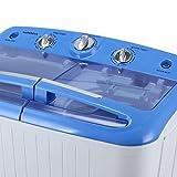 arksen portable mini small washing machine spin dryer laundry 11lbs white
