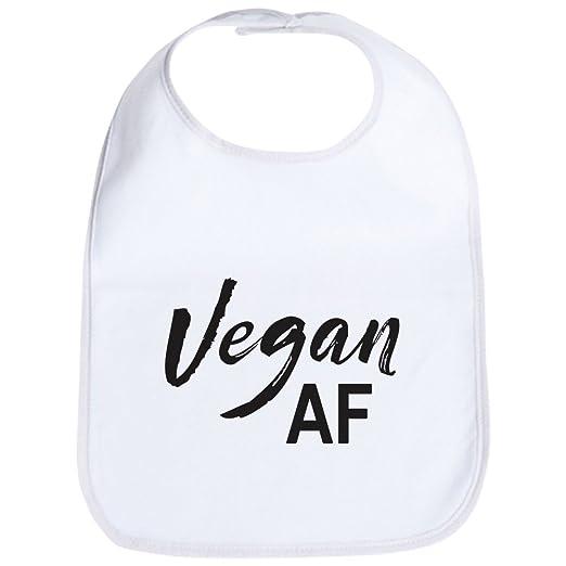 1e87b5e11 Amazon.com: CafePress - Vegan AF - Cute Cloth Baby Bib, Toddler Bib:  Clothing