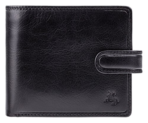 Protection With Cards Notes Tan Black Fraud Mens Wallet Visconti TSC42 RFID For Leather 1axCzgwqC