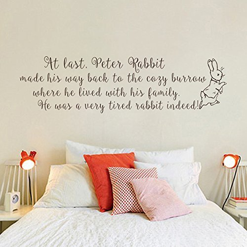 Wall Decal Decor Peter Rabbit Wall Decal   Baby Nursery Wall Quote Decal  Baby Room Kids