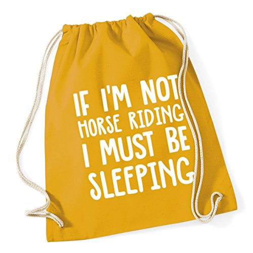 riding Kid Cotton not I School be litres 12 If 46cm Mustard HippoWarehouse sleeping I'm x horse Sack Gym 37cm Bag Drawstring must nOIFgx