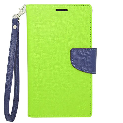 Insten Universal Wallet Pouch 5.0'' PU Leather Case for Coolpad Catalyst/Samsung Galaxy Sky/LG Aristo/LG LV3/ Motorola Moto G4 Play XT1607, Green/Blue