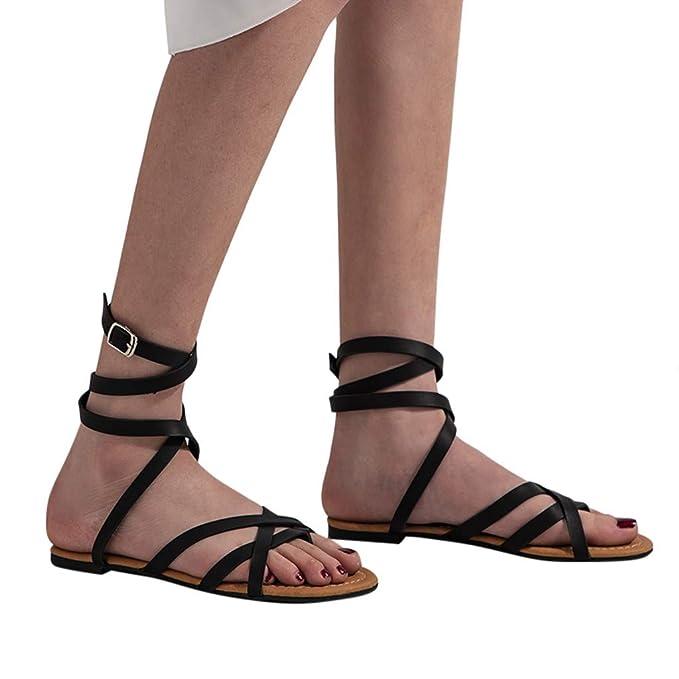 Verano Zapatos Sandalias 2019 Mosstars Planos Mujer Planas wvm0ON8n