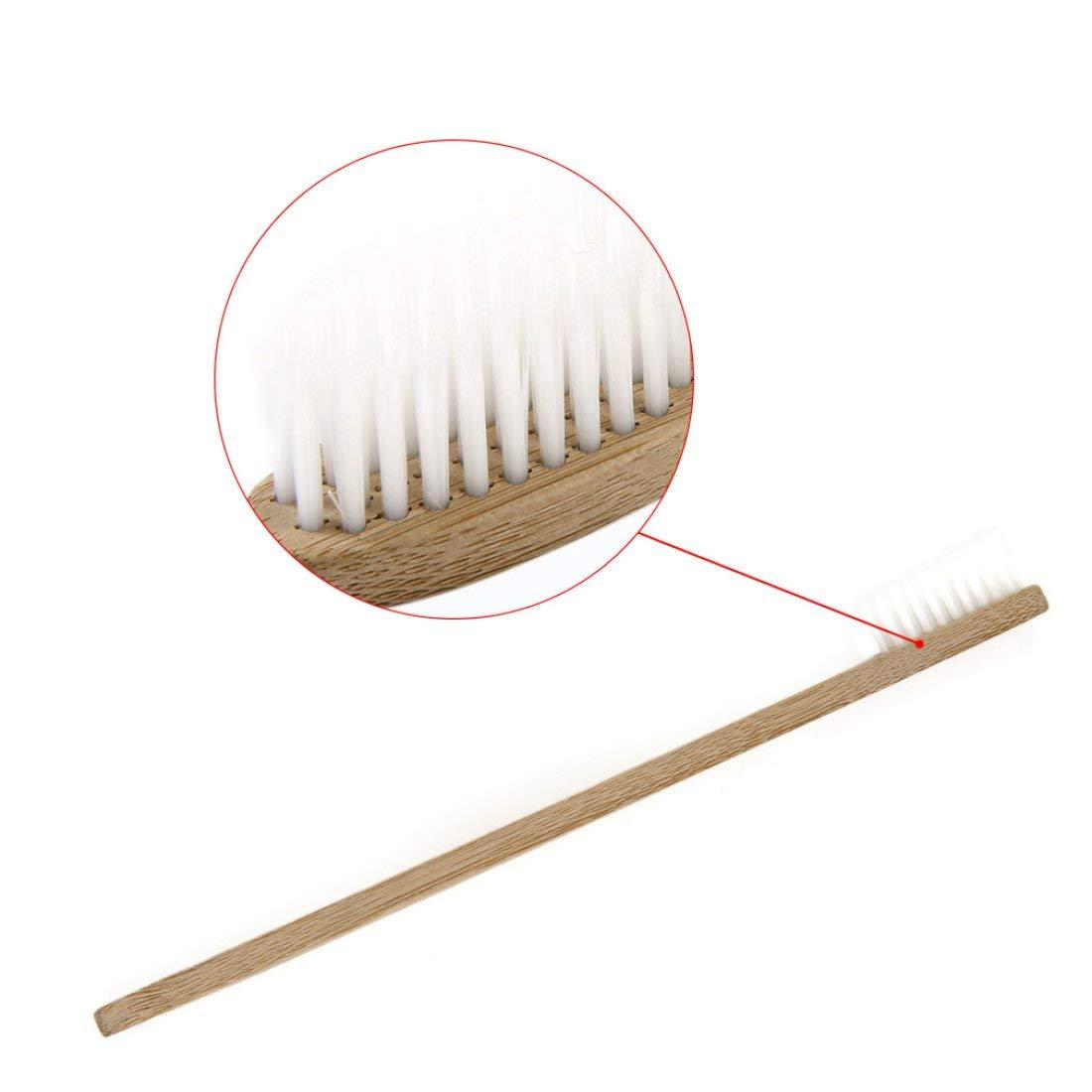 drf8090w-eop Cepillo de Dientes de Madera ecol/ógico Cepillo de Dientes de bamb/ú Fibra de bamb/ú Suave