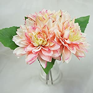 Lily Garden Dahlia Artificial Flowers Set of 6 4