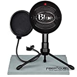 Blue Snowball iCE USB Cardioid Condenser Microphone (Black) with Pop Filter Accessory Pack