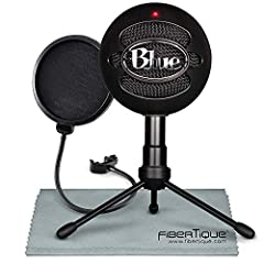 TheBlue Snowball iCE is the perfect USB condenser microphone for a superior audio recording and streaming experience at home, in the office, studio, or anywhere else. It features a custom condenser capsule and a cardioid pickup pattern for f...