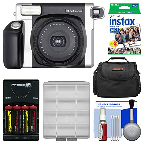 Camera Kit Twin (Fujifilm Instax Wide 300 Instant Film Camera with 20 Wide Twin Prints + Case + Batteries & Charger + Kit)
