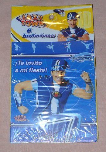 Lazy Town Sportacus Party Invitations (Spanish) -