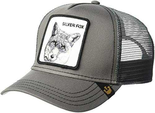 Adjustable Fox Hat - Goorin Bros. Men's Silver Fox Trucker, Gray, One Size