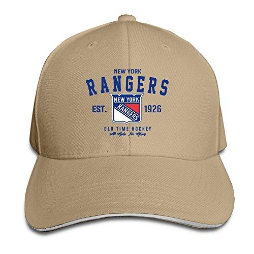 - BOoottty NY Rangers Old Time Ice Hockey Team Flex Baseball Cap Natural