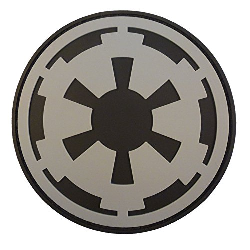 Star Wars Galactic Empire Crest Insignia Imperial Logo PVC Rubber 3D Hook-and-Loop Patch