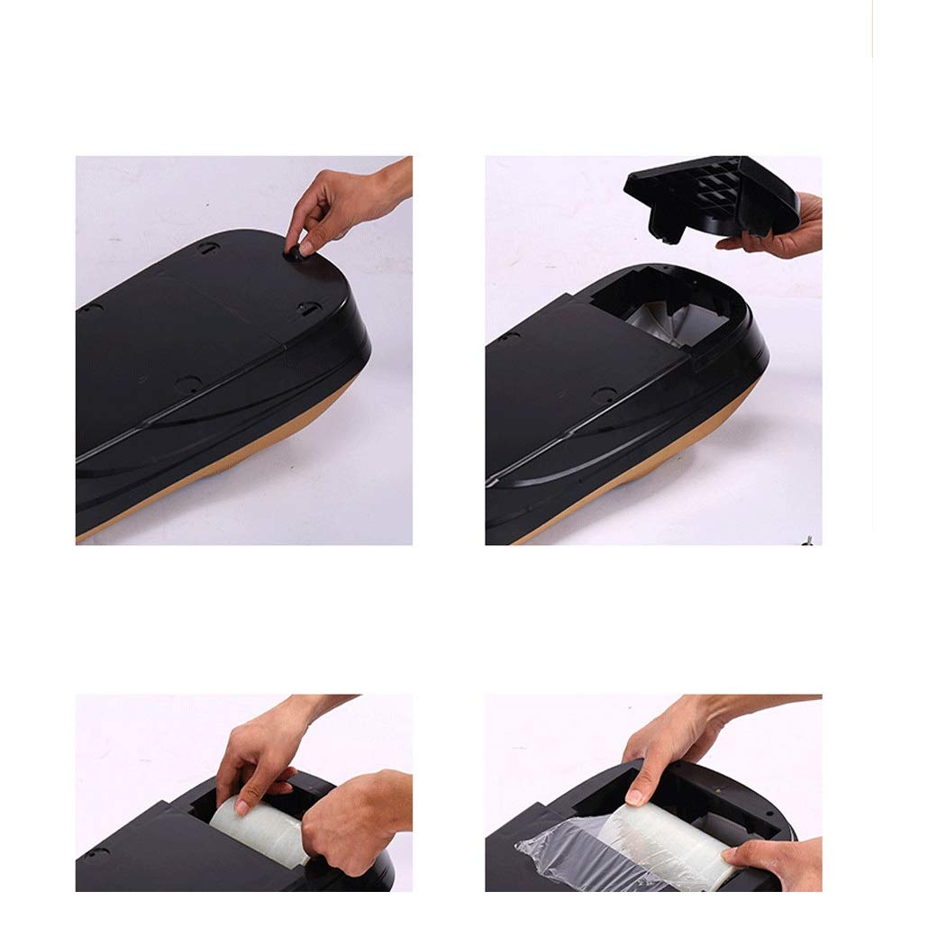 Image #5: Yongyong Golden Piano Paint Simple Wind Automatic Shoe Cover Machine Disposable Home Shoe Machine Office Foot Cover Machine Cover Shoe Machine (Including 600 Shoe Film) 60 28 17cm (Color : Gold) by Yongyong