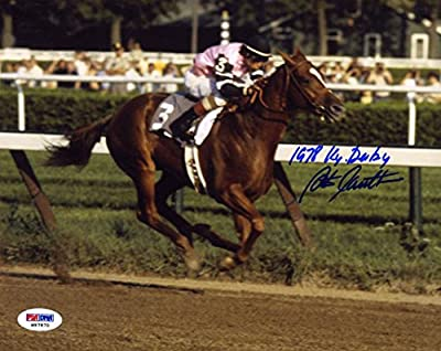 Steve Cauthen SIGNED 8x10 Photo + 1978 Kentucky Derby Jockey AUTOGRAPHED - PSA/DNA Certified - Autographed Sports Photos