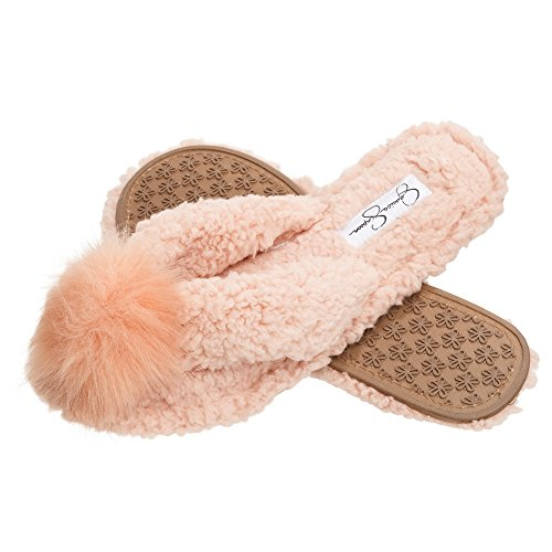 Pom On Pom Thong Cozy Faux Shearling Slide Jessica Simpson Slippers Slipper Womens Plush Pink qB7x0Pf