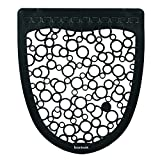Boardwalk BWK UMBW Urinal Mat 2.0, Rubber, 17-1/2'' Width, 20'' Length, Black/White (Pack of 6)