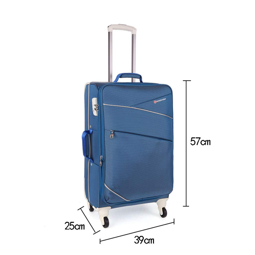 e3b65d7a699c Amazon.com  SKATEGY Universal Wheel Luggage Suitcase,Oxford Cloth Outdoor  Multi-Function Business Travel Boarding Box 20-inch (Color   Blue