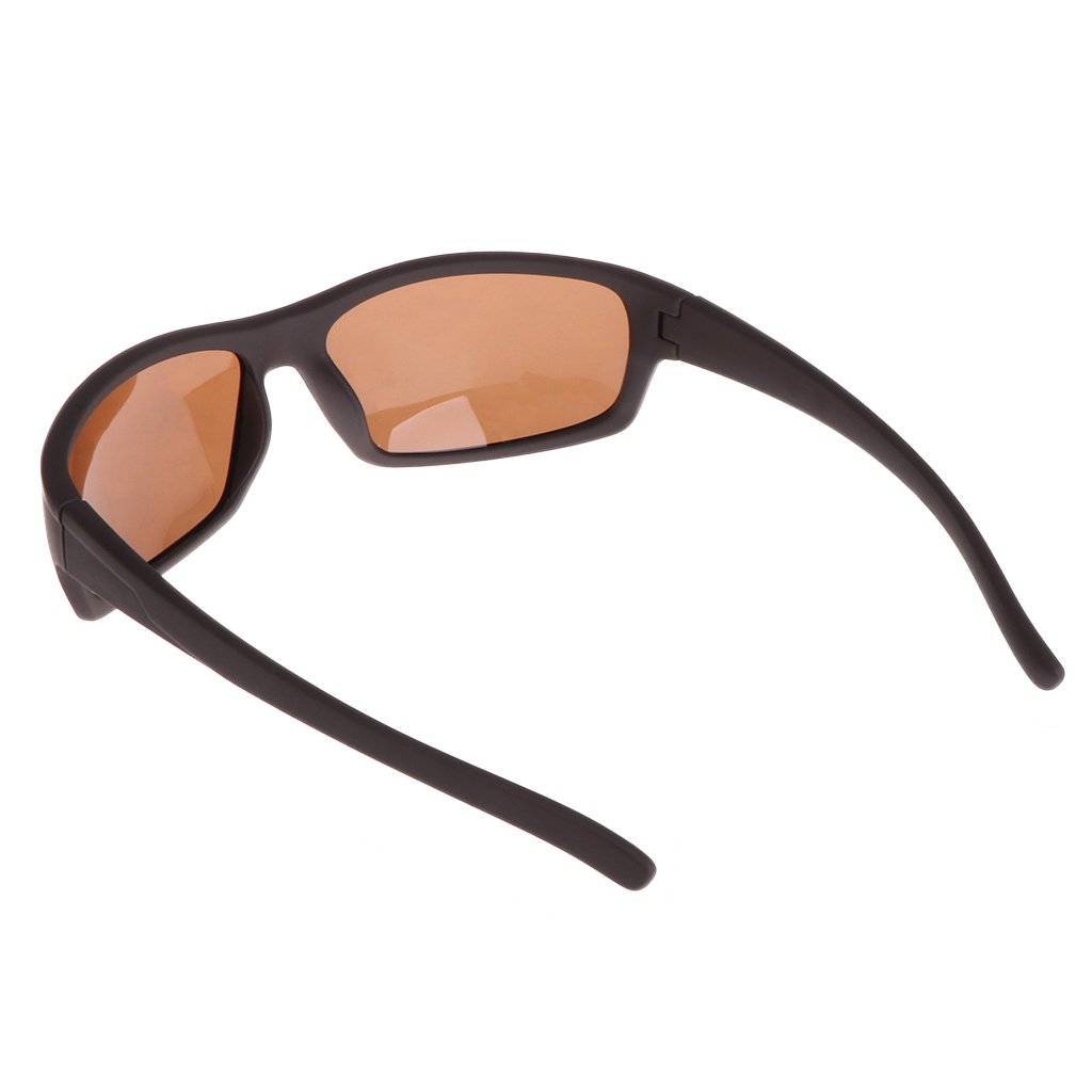 Lamdoo Glasses Fishing Cycling Polarized Outdoor Sunglasses Protection Sport UV400 Men Brown