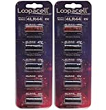 10 4LR44 / PX28A / L1325 / A544 / K28A / 476A 6V Alkaline Batteries for Dog Shock/Training Collars by Loopacell