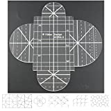 longarm quilt machine - DreamStitch 3mm Acrylic Patchwork Quilting Template Ruler Clamshell for Domestic (household) Sewing Machines for Free motion 1/4(1-4 quarter inch) Presser Foot Yütien Design