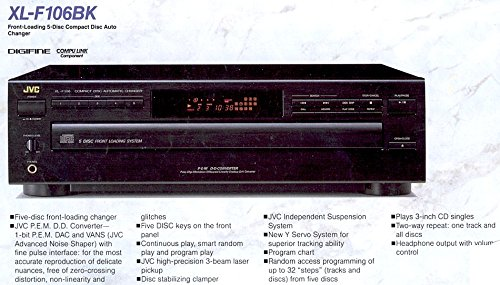 JVC XL F106 CD PLAYER : 5 Disc Carousel System - MADE IN JAPAN