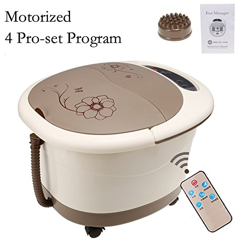 Spa for Feet With Motorized Rolling Massage - 4 Pro-set Program - Water Spray, Heating, Rolling Massage, Remote Control, Temperature Setting W/ Remote Control