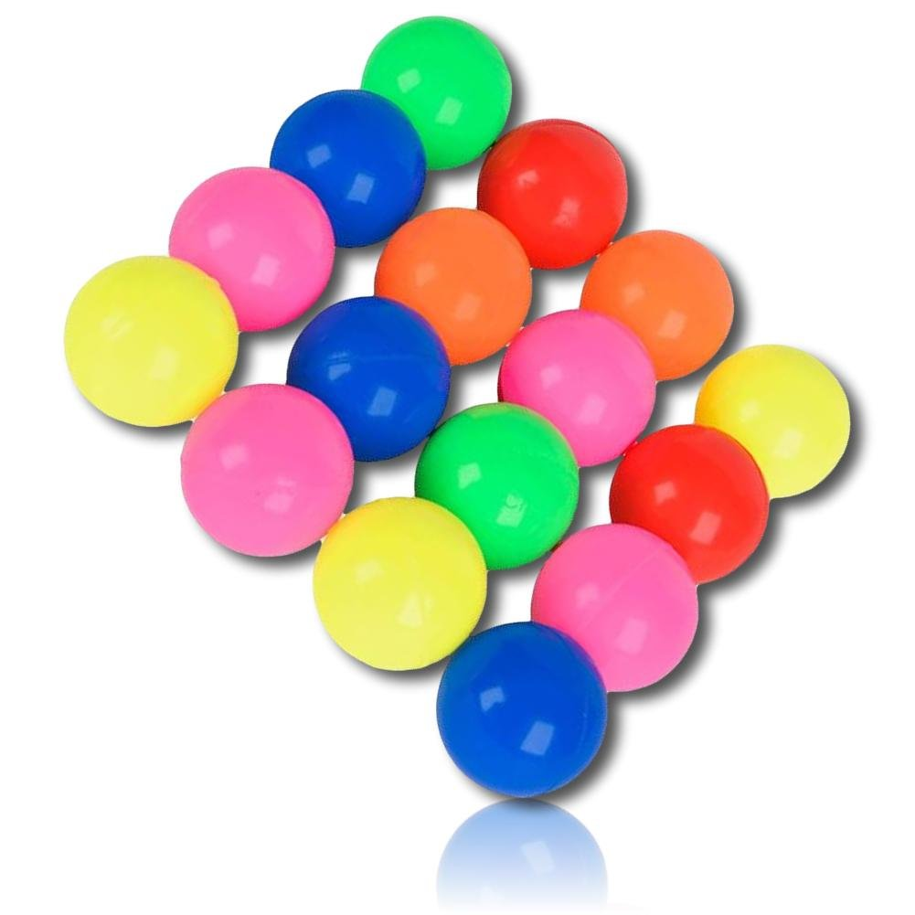 Custom & Unique {25mm} 1720 Bulk Pack, Mid-Size Super High Bouncy Balls, Made of Grade A+ Rebound Rubber w/ Shiny Classic Bright Colorful Neon Rainbow Vibrant Solid Tone Pattern Style (Multicolor)