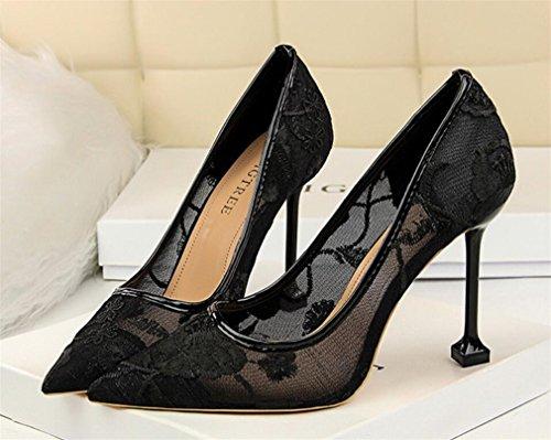 Que Princesa Bride eu40 Mujeres Del Boda Pumps Altos De Lujo black Bordar Tacones Clásicas Zapatos Muchachas Datan Partido Las La Sandalias Los Señoras Corte Oficina xqn1SRaY