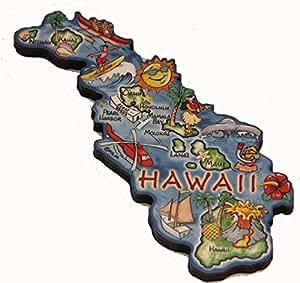 Hawaii State Decowood Jumbo Wood Fridge Magnet 5
