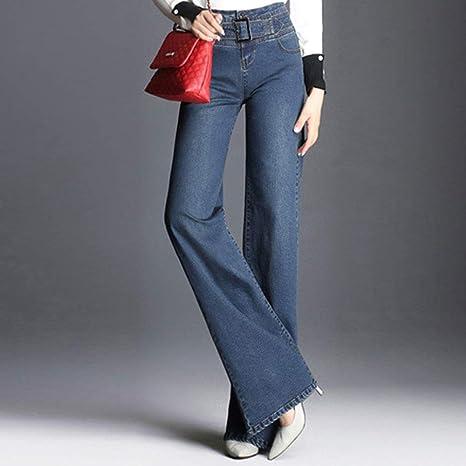 Amazon.com: HIENAJ - Pantalones vaqueros para mujer, cintura ...