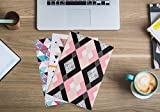 MJW 3Pk Two-Pocket Folders, Business Presentation and School Portfolio for Letter Size Papers with Card Slot in Assorted Fun and Chic Pink Design, Matte