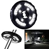 Patio Umbrella Light,eTopxizu Cordless Table Mount 4xAA Battery Operated(Not Included) 12,000 lux Wireless 24 LED Lights Garden Beach Tents Ourdoor Lamp For Patio Umbrellas, Camping Tents, Black
