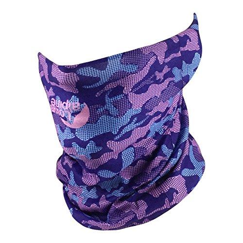 Fishing Mask Camo Multifunctional Headwear - Works as Fishing Sun Mask, Face Shield, Neck Gaiter, Headband, Bandana, Balaclava - Breathable Seamless Microfiber (Purple Camo)