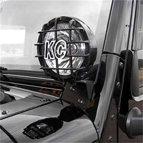 """KC HiLiTES 7316 2007-2014 Jeep Wrangler JK Windshield Hinge Light Mount Brackets - Set of 2"""" (Hinge Wrangler Jeep Windshield)"""