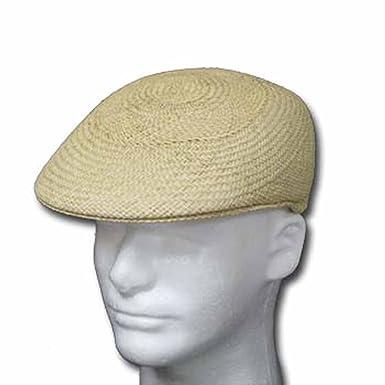 b9df10a9c0ee4 Ultrafino ASCOT ENGLISH Panama Hat NATURAL STRAW Driver Cap at Amazon Men s  Clothing store  Newsboy Caps