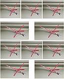 Ice Fishing Tip-ups 10 Pack Hi-flag ''Senior'' RED Edition