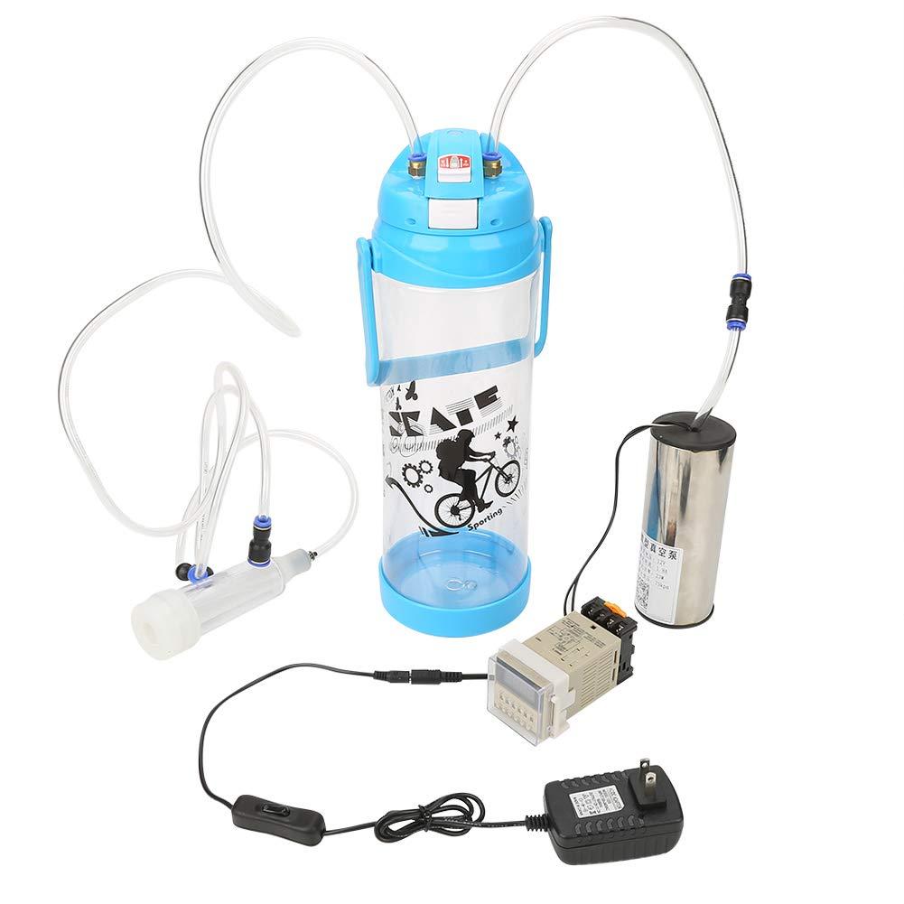 Fdit 3L Portable Electric Milking Machine Sheep Cow Goat Milking Machine Set Manual Pump One Teat Milker Claw Milking Teat Cups Goat Sheep Milking Machine, US Plug by Fdit (Image #1)