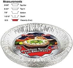 Pactogo 10\  (Actual Top-Out 9-5/8 Inches - Top  sc 1 st  Amazon.com & Amazon.com: Aluminum - Pie Pans / Pie Tart \u0026 Quiche Pans: Home ...