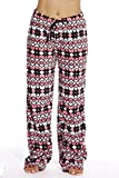 6339-10187-1X Just Love Women's Plush Pajama Pants - Petite to Plus Size Pajamas,Coral - Snowflake,1X Plus