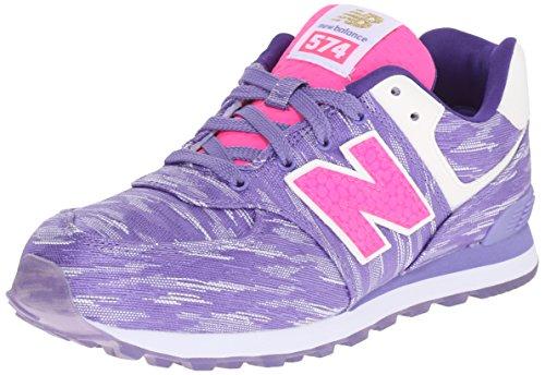 New Balance KL574 Summer Waves G Running Shoe (Big Kid), Purple/Purple, 6 M US Big Kid