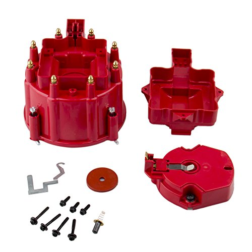 Distributor Cap Rotor Set - CarBole Red Male HEI Distributor Cap & Rotor Performance Replacement SBC BBC 305 350 454