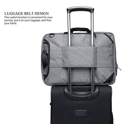CoolBELL Convertible Messenger Bag Backpack Shoulder Bag Laptop Case Handbag Business Briefcase Multi-Functional Travel Rucksack Fits 17.3 inch Laptop for Men/Women (Grey) by CoolBELL (Image #3)