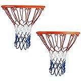 PlasMaller 2 Pack Basketball Nets Heavy Duty Professional Outdoor Indoor 12 Loop 4 mm