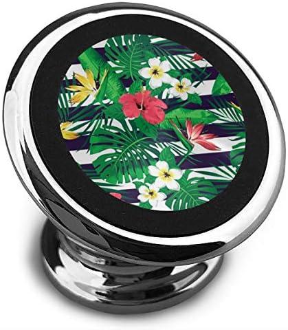 花と葉 携帯電話ホルダー おしゃれ 車載ホルダー 人気 磁気ホルダー 大きな吸引力 サポートフレーム 落下防止 360度回転
