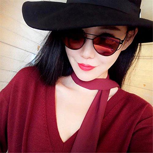 SKY metal rojo marco Eye de sol gafas clásico Sunglasses espejo de Specially de de de mujeres de sol las de de Glasses la sol Gafas manera de gafas de Cat rqrZTw